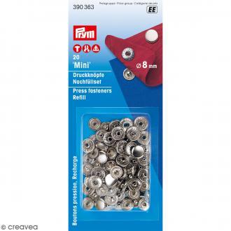 Boutons pression avec cache - Prym Mini - 8 mm - 20 pcs