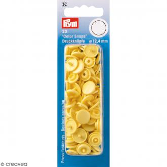 Bouton pression - Jaune banane - 12,4 mm - 30 pcs