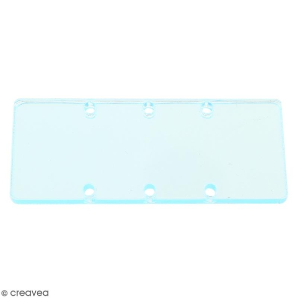 Intercalaire Rectangulaire Transparent - 50 x 20 mm - Photo n°1