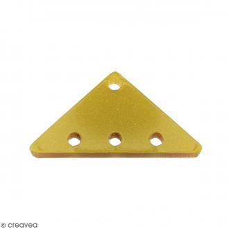 Intercalaire Triangulaire Jaune doré - 25 x 13 mm