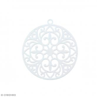 Pendentif estampe Rond en filigrane - Gris pâle - 30 mm