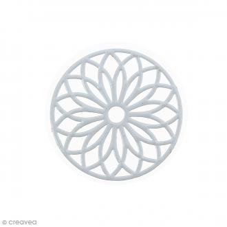 Pendentif estampe Rosace en filigrane - Gris foncé - 24 mm