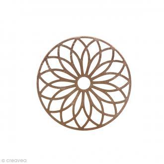Pendentif estampe Rosace en filigrane - Rose doré - 24 mm