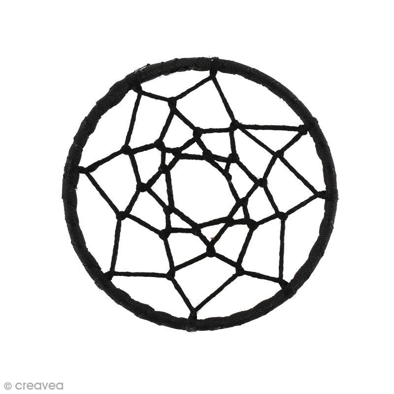 pendentif attrape r ves en tissu noir 60 mm pendentif fantaisie creavea. Black Bedroom Furniture Sets. Home Design Ideas