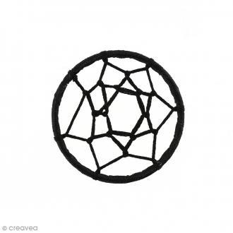 Pendentif tissu Attrape rêves - Noir - 47 mm