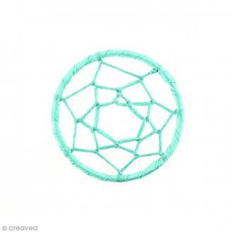 Pendentif tissu Attrape rêves - Bleu Veraman - 47 mm