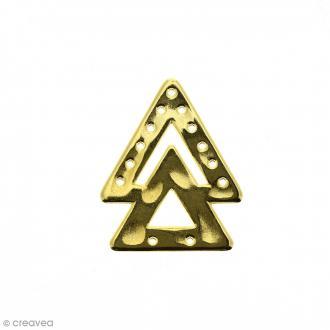 Intercalaire 2 triangles Jaune doré en métal - 23 x 38 mm