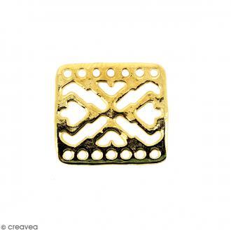 Breloque intercalaire Bracelet Dorée en métal - 18 x 16 mm