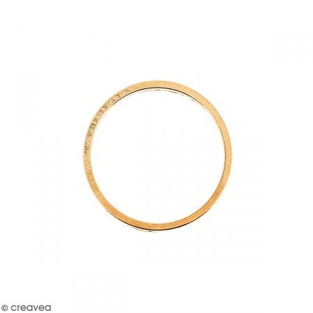 Anneau Rose doré en métal - 14 mm - Photo n°1