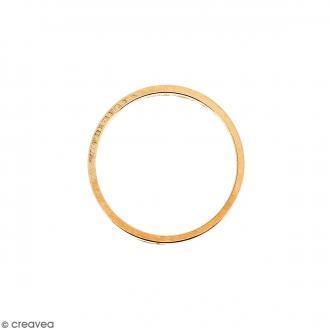 Anneau Rose doré en métal - 14 mm