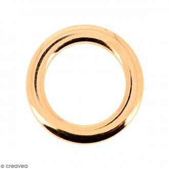Anneau moulé Rose doré en métal - 18 mm