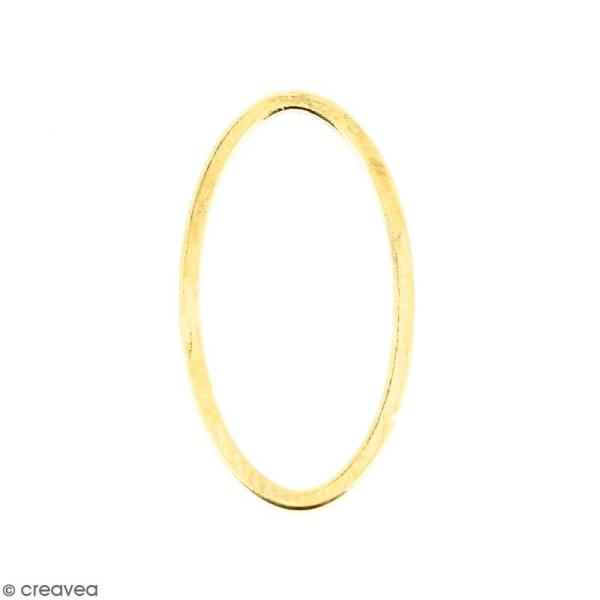 Anneau ovale Doré en métal - 8 x 15 mm - Photo n°1