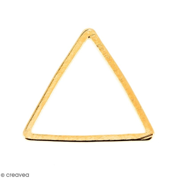 Triangle Doré en métal - 14 mm - Photo n°1