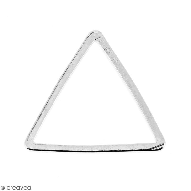 Triangle Argenté en métal - 14 mm - Photo n°1