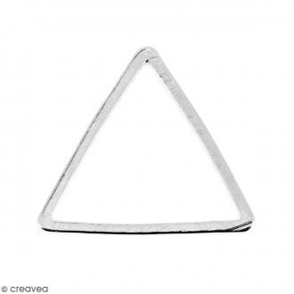 Triangle Argenté en métal - 14 mm