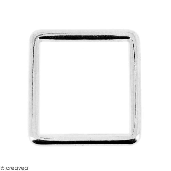 Intercalaire carré Argenté en métal - 15 mm - Photo n°1