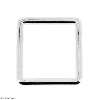 Intercalaire carré Argenté en métal - 15 mm