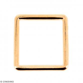 Intercalaire carré Rose doré en métal - 15 mm