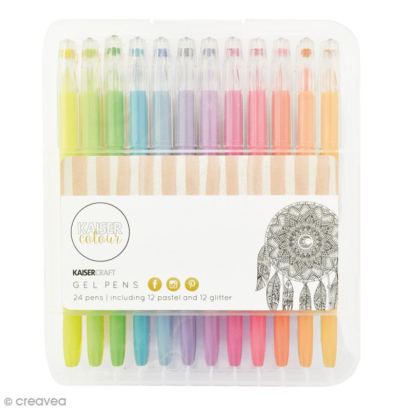 Stylos à gel Kaiser Colour - 24 stylos - Photo n°1
