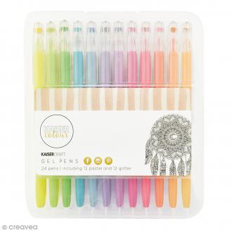 Stylos à gel Kaiser Colour - 24 stylos
