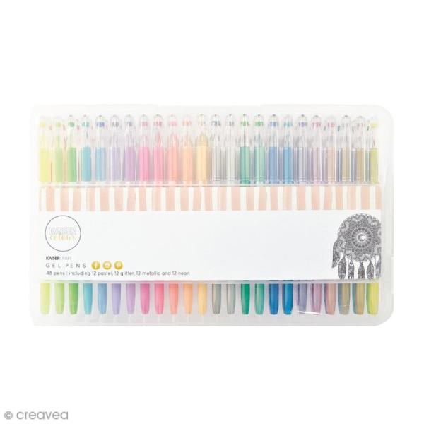 Stylos à gel Kaiser Colour - 48 stylos - Photo n°1