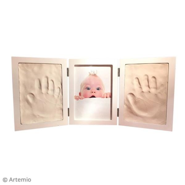 Cadre empreinte bébé et photo - 43,5 x 19,5 cm - Photo n°2