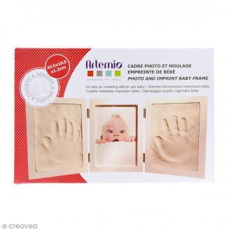Cadre empreinte bébé et photo - 43,5 x 19,5 cm
