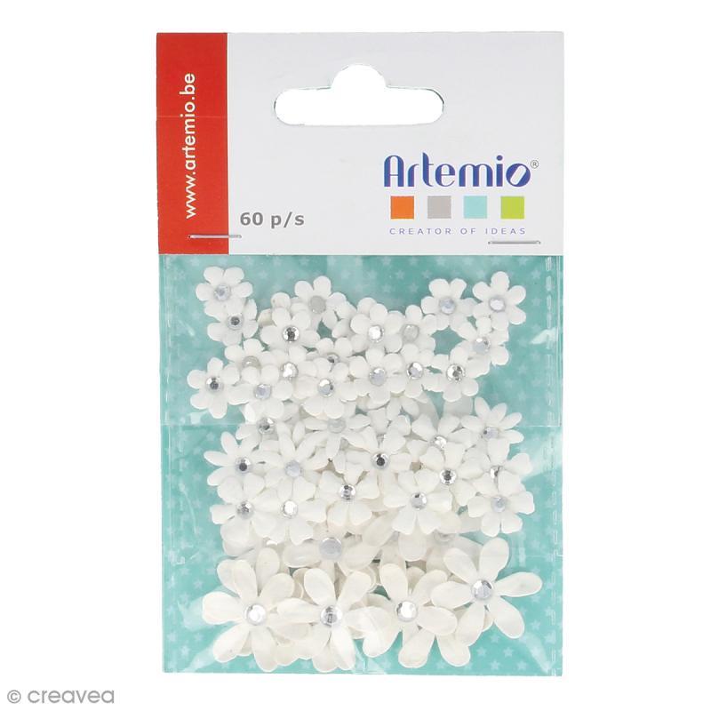Mini Fleurs blanches - 60 pcs - Photo n°1