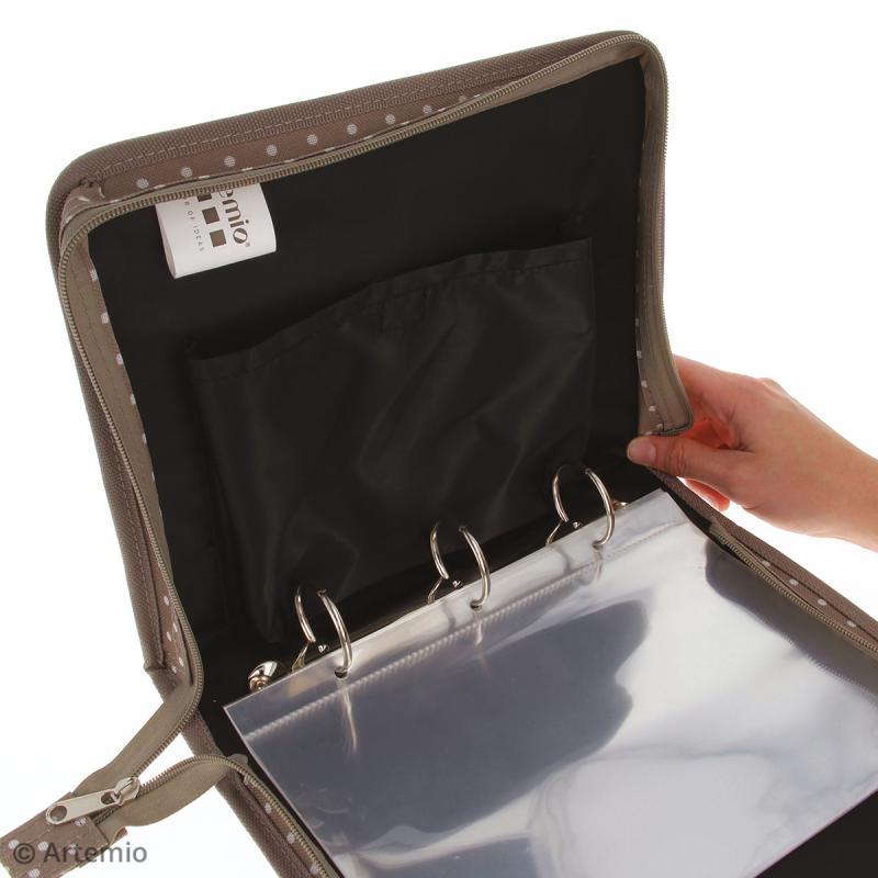 Trousse avec classeur de rangement pour tampons transparents - 28 x 22 cm - Photo n°2