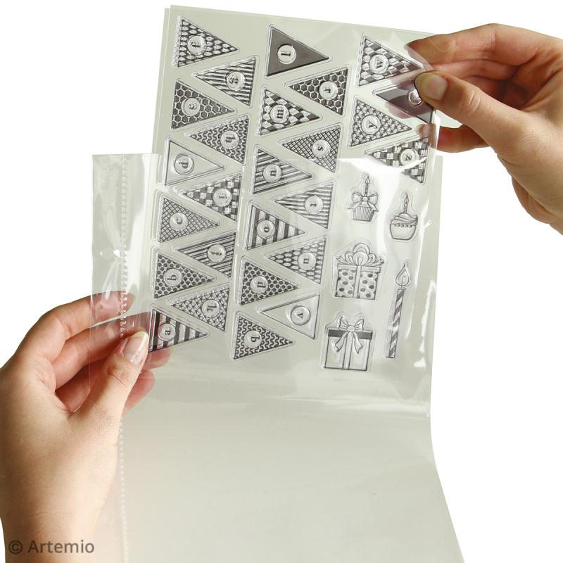 Trousse avec classeur de rangement pour tampons transparents - 28 x 22 cm - Photo n°3