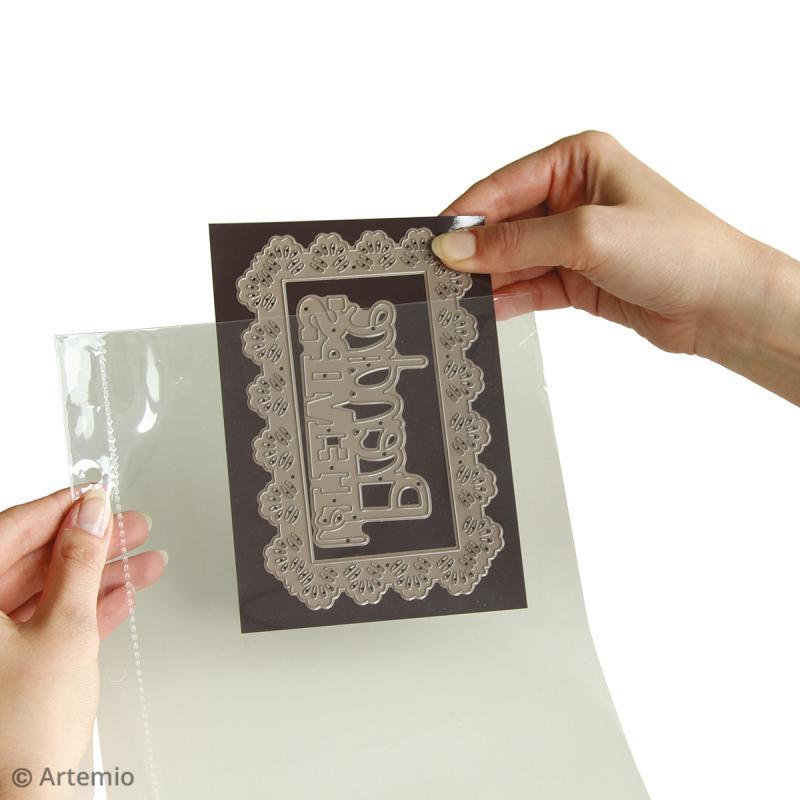 Trousse avec classeur de rangement pour tampons transparents - 28 x 22 cm - Photo n°4
