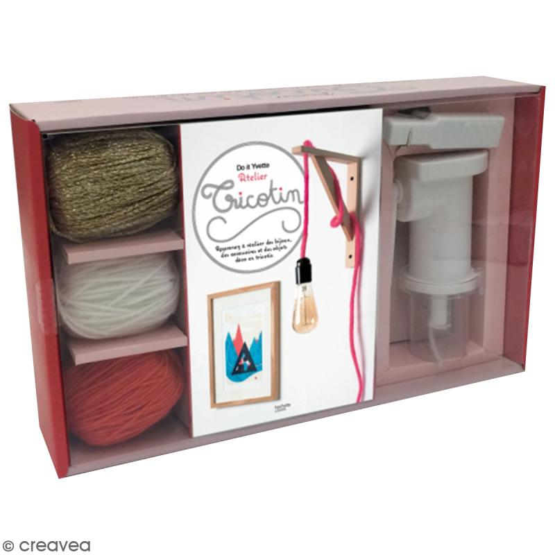 kit atelier tricotin livre diy et mat riel cr atif kit tricotin creavea. Black Bedroom Furniture Sets. Home Design Ideas