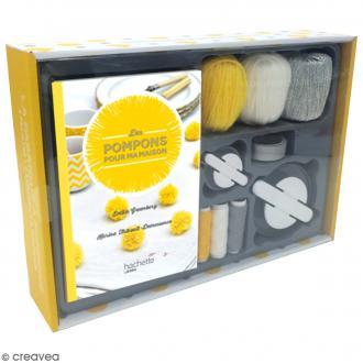 Kit Fabrique à pompons - Livre DIY et matériel créatif