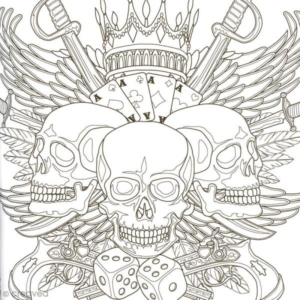 Coffret De Coloriage Art Thérapie Têtes De Mort à Colorier 1