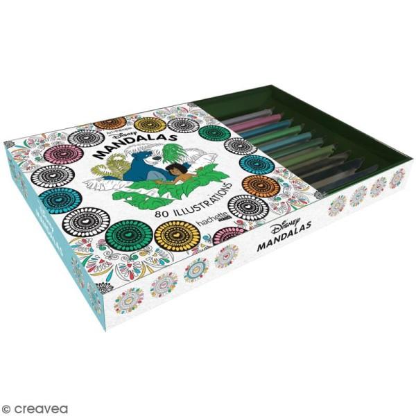 Coffret De Coloriage Art Therapie Mandalas Disney 1 Livre Et 10 Crayons Coffret Coloriage Creavea