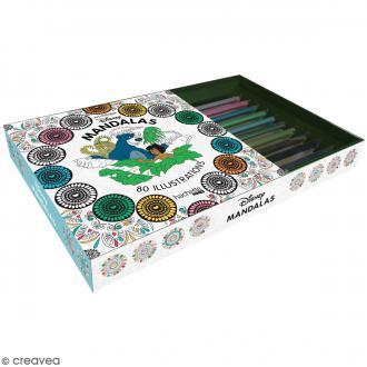Coffret de coloriage Art thérapie - Mandalas Disney - 1 livre et 10 crayons