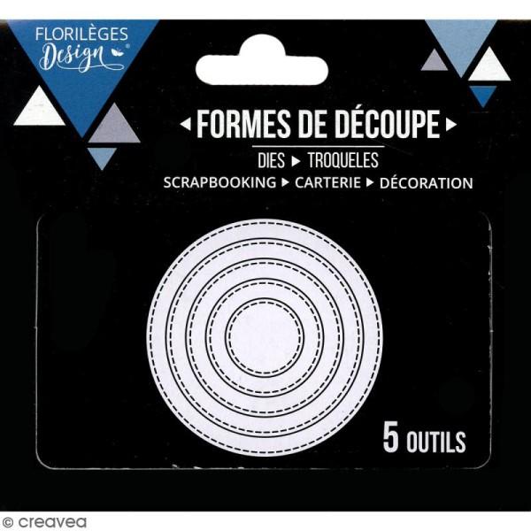 Die Florilèges Design - Cercles basiques - 5 pcs - Photo n°3