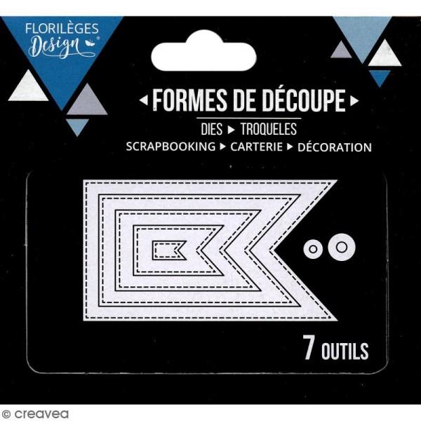 Die Florilèges Design - Fanions basiques - 7 pcs - Photo n°3