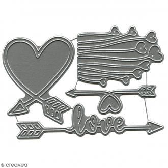 Die Florilèges Design - Direction Love - 4 pcs