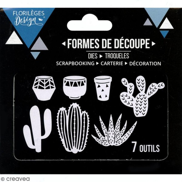 Die Florilèges Design - Quelques cactus - 7 pcs - Photo n°3