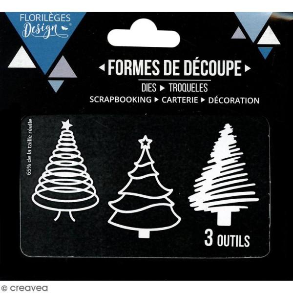 Die Florilèges Design - Trois sapins - 3 pcs - Photo n°3