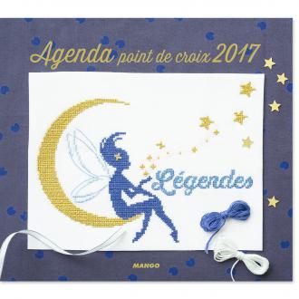 Agenda Point de croix 2017 - 53 modèles à reproduire