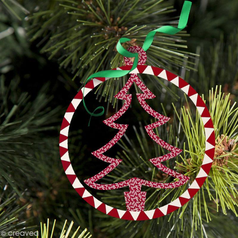 Forme en bois Noël - Boule ajourée Sapin 4,5 cm - Photo n°2