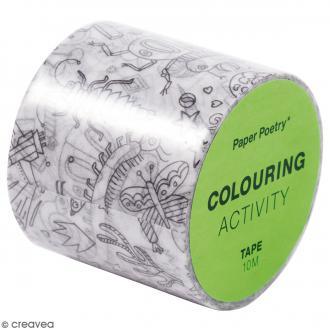 Masking Tape à colorier XL - Insectes - 4 cm x 10 mètres