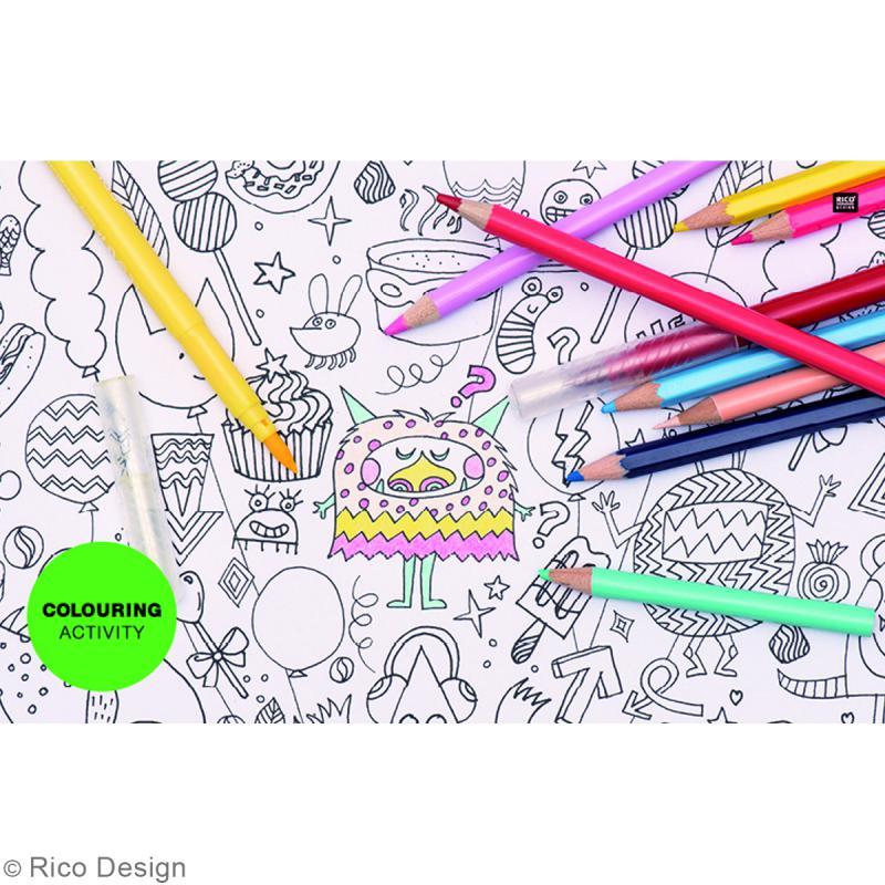 Assortiment Masking Tape à colorier - Monstres - 1,5 cm x 10 m - 5 pcs - Photo n°2