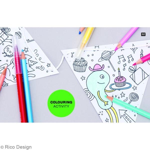Assortiment Masking Tape à colorier - Monstres - 1,5 cm x 10 m - 5 pcs - Photo n°3