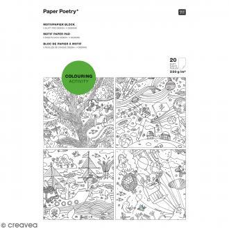 Bloc de papiers A4 à colorier - 20 feuilles