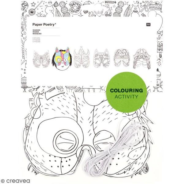 Masques à colorier - 6 pcs - Photo n°1