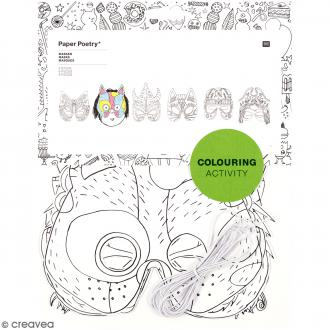 Masques à colorier - 6 pcs
