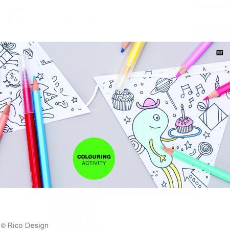 Couronnes à colorier - 5 pcs - Photo n°3
